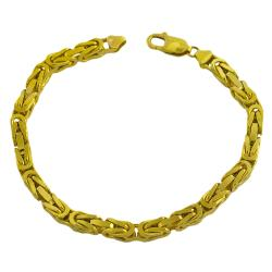 Fremada 14k Yellow Gold Men's Solid 8.75-inch Byzantine Bracelet