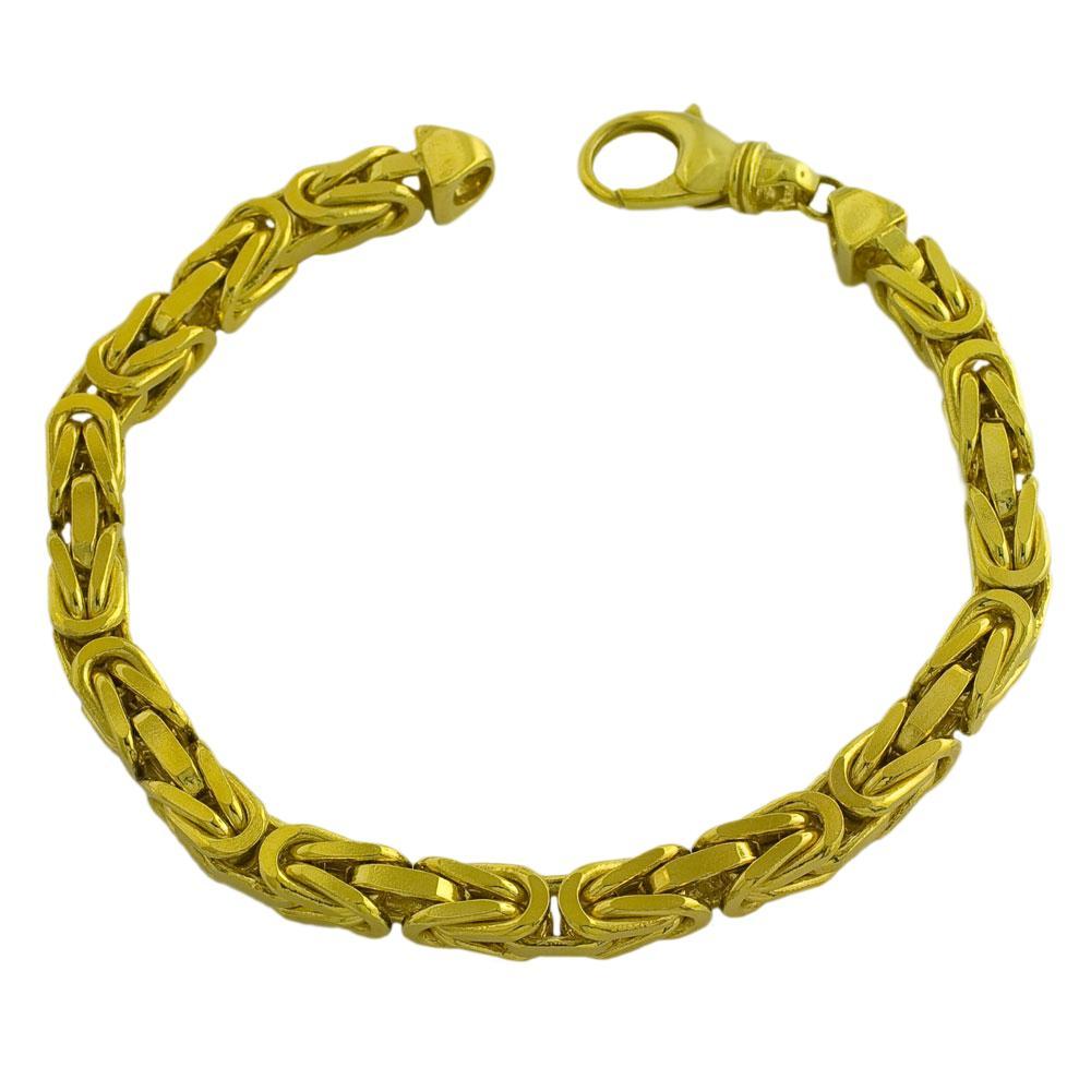 Fremada 14k Yellow Gold Men's Solid 9.25-inch Byzantine Bracelet