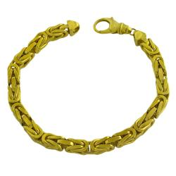 Fremada 14k Yellow Gold Men's Solid 9.25-inch Byzantine Bracelet