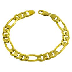 Fremada 14k Yellow Gold Men's Solid 8.5-inch Figaro Bracelet