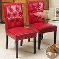 Christopher Knight Home Gentry Bonded Leather Red Dining Chair (Set of 2)