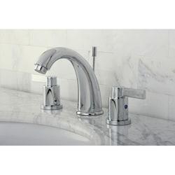 NuvoFusion Chrome Gooseneck Widespread Bathroom Faucet