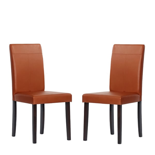 dining room chairs set of 2 warehouse of tiffany toffee dining room