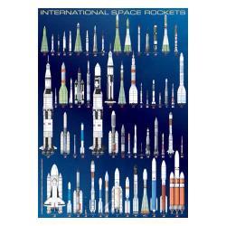 Eurographics 1000-piece International Space Rockets Puzzle