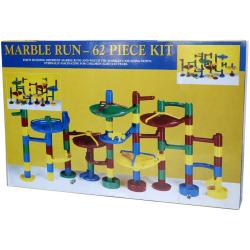 Plastic 62-piece Marble Run Kit