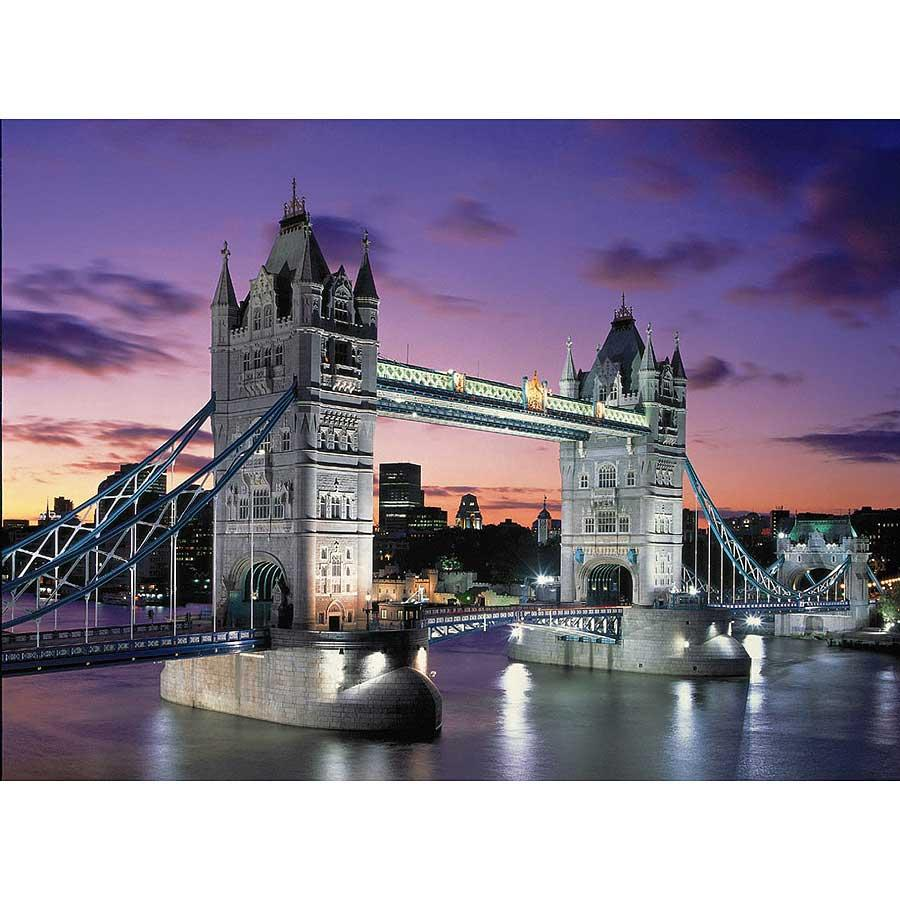 Tower Bridge, London 1000-piece Neon Jigsaw Puzzle