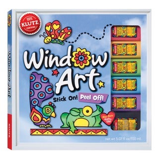 Peel-off Adhesive Window Art Activity Book with Glitter Paints
