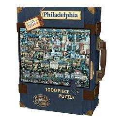 Explore America 1,000-pc Philadelphia Suitcase Puzzle