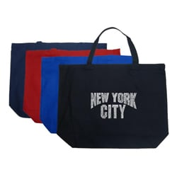Los Angeles Pop Art 'New York City' Large Tote Bag