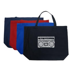 Los Angeles Pop Art 'Boom Box' Large Tote Bag