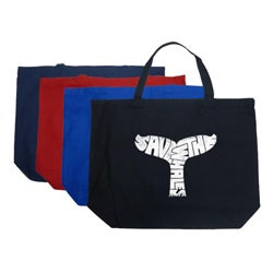 Los Angeles Pop Art 'Save The Whales' Large Shopping Tote