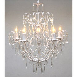 Regent 5-light White Iron Chandelier