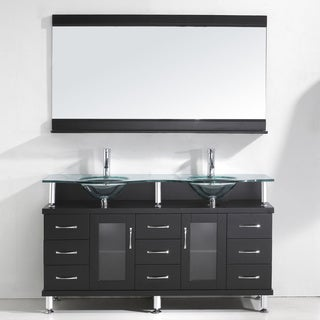 Virtu Usa Vincente Rocco 59 Inch Double Sink Bathroom Vanity Set Overstock Shopping Great