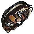 Leather and Stone 'Thai Karma' Bracelet