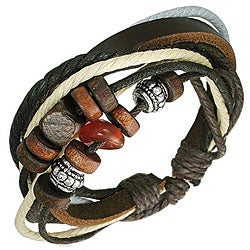 Leather and Stone 'Fortunate' Bracelet