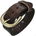 Genuine Leather Brown 'Eclipse' Bracelet