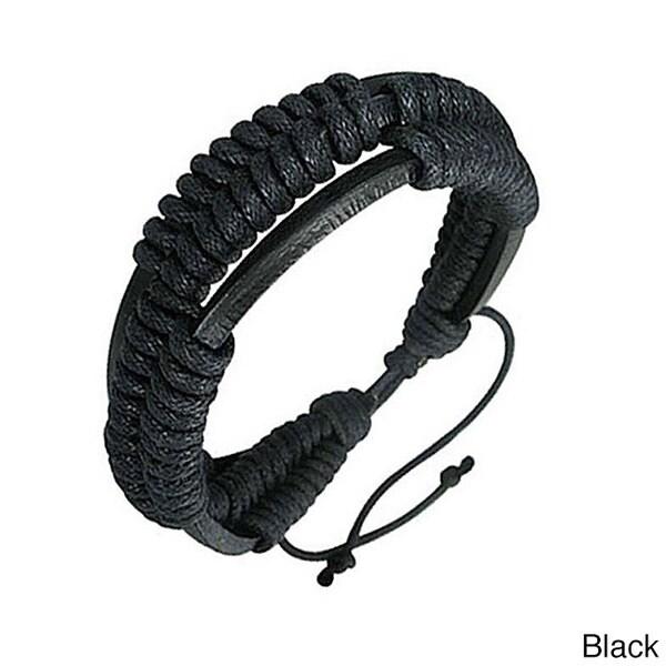 Genuine Leather Black 'Unity' Bracelet