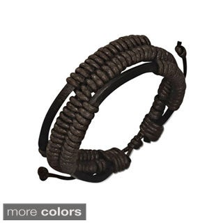 Genuine Leather Black 'Unity' Bracelet