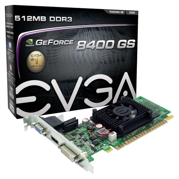 EVGA 512-P3-1300-LR GeForce 8400 GS Graphic Card - 520 MHz Core - 512