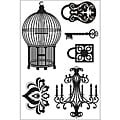 KaiserCraft Le Chateau Clear 4x6-inch Stamp