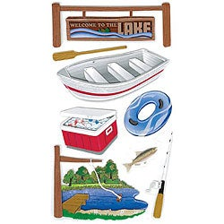 Jolee's Boutique Lake Activities Le Grande Dimensional Stickers