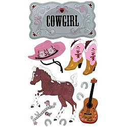 Jolee's Boutique 'Cowgirl' Le Grande Dimensional Stickers