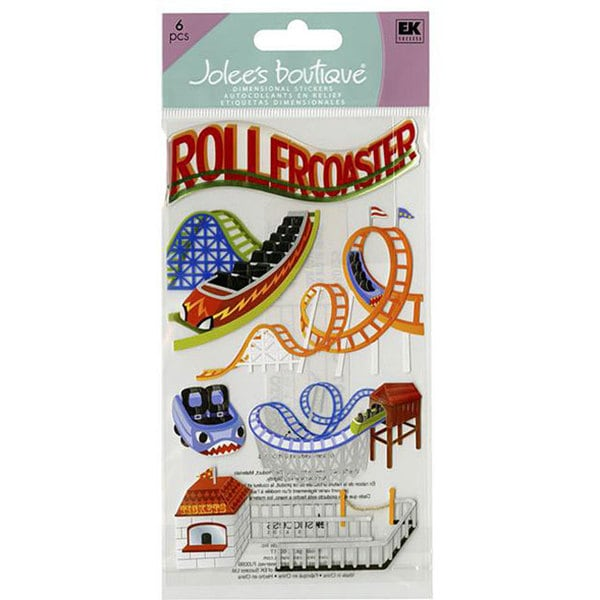 Jolee's Boutique 'Roller Coasters' Le Grande Dimensional Stickers