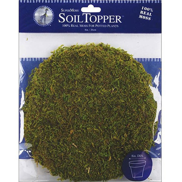SuperMoss 8-inch Green Moss Pot Toppers (Pack of 3) 7501669
