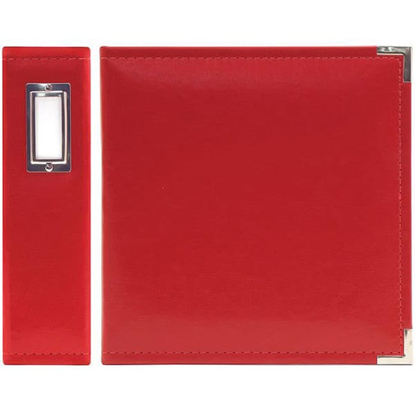 We R Memory Keepers Real Red Classic Faux Leather Ring Binder