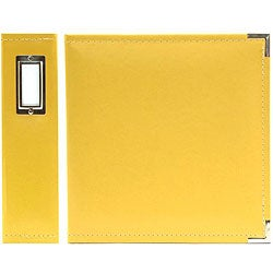 We R Memory Keepers Buttercup Yellow Classic Faux Leather Ring Binder