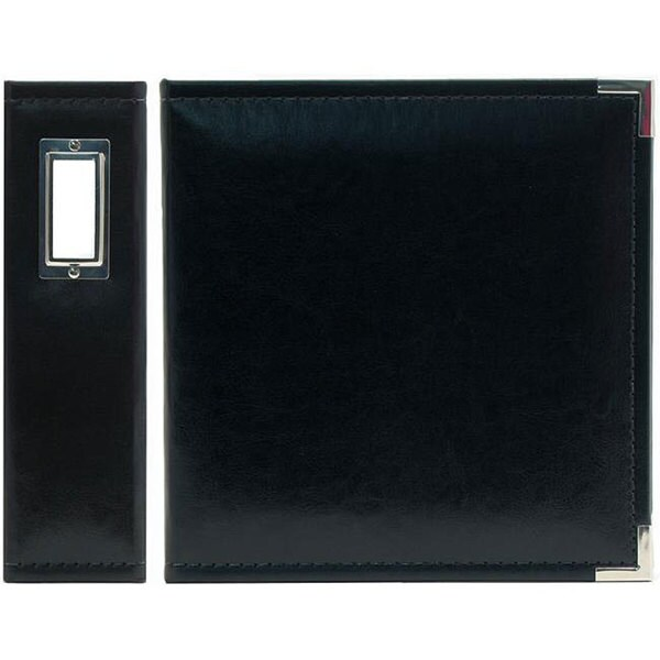 We R Memory Keepers Black Classic Faux Leather 8.5x5.5-inch Ring Binder
