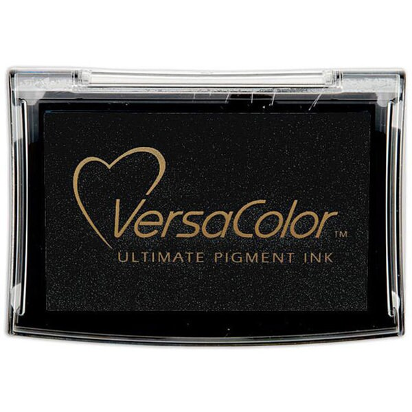 Versacolor Black Nontoxic Acid-free Fade-resistant Pigment Ink Pad
