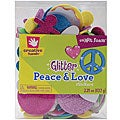 Fibre-Craft Creative Hands SmART Foam Peace & Love 2.25-ox Glitter Stickers