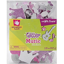 Fibre-Craft Creative Hands SmART 2.25-oz Music Foam Glitter Stickers