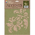 Stencil Magic Accents Floral Accent Stencil