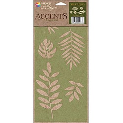 Stencil Magic Accents Simple Leaves Decorative Stencil