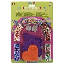 Perler Fun Fusion Fuse Cupcakes and Butterflies Bead Activity Kit