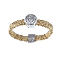 La Preciosa Sterling Silver Cubic Zirconia Threaded Ring