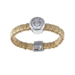 La Preciosa Sterling Silver Cubic Zirconia Threaded Ring
