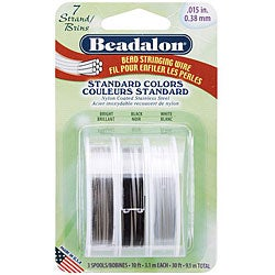 Beadalon Silver/ Black/ Clear Jewelry Stringing Wire