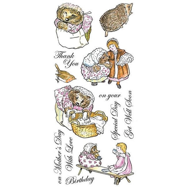 Beatrix Potter- The Tale of Mrs. Tiggy-winkle Unmounted Stamp Set