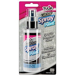 Tulip 4-oz Sparkling Star White Glitter Fabric Spray Paint