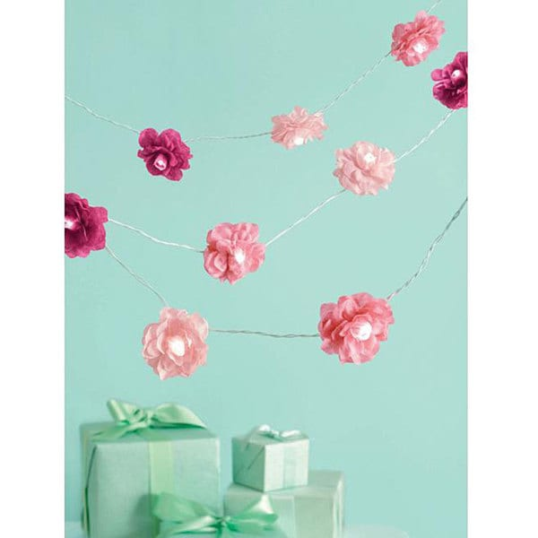 Celebrate Decor Pink Lighted 8-foot Garland
