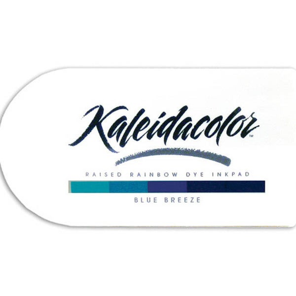 Kaleidacolor Blue Breeze Raised Rainbow Dye Ink Stamp Pad