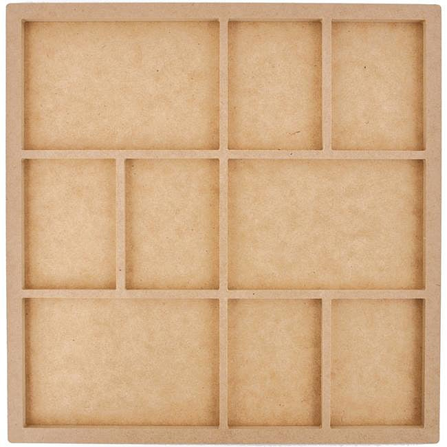 Beyond The Page Quality Press Board 9-frame 13.5x13.5 Photo Display