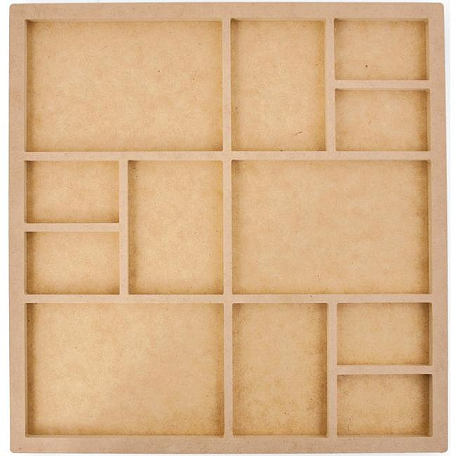 Beyond The Page Quality Press Board 12-frame 13.5x13.5 Photo Display