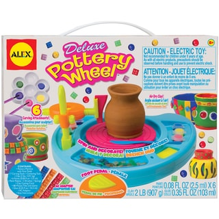 Deluxe Six-paint Air-drying Clay Pottery Wheel with AC Adapter