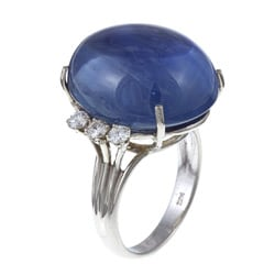 Pre-owned 14k White Gold Sapphire and 3/5ct TDW Diamond Estate Ring (H-I, SI1-SI2)