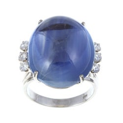 14k White Gold Sapphire and 3/5ct TDW Diamond Estate Ring (H-I, SI1-SI2)