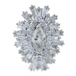 Pre-owned Platinum 8 1/2ct TDW Diamond Estate Ballerina Ring (H-I, SI3)